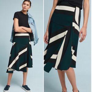NWT Eva Franco Anthropologie sporty flounced skirt